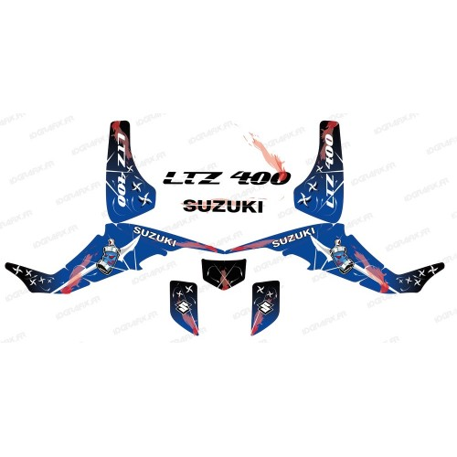 photo du kit décoration - Kit décoration Weapon Bleu - IDgrafix - Suzuki LTZ 400