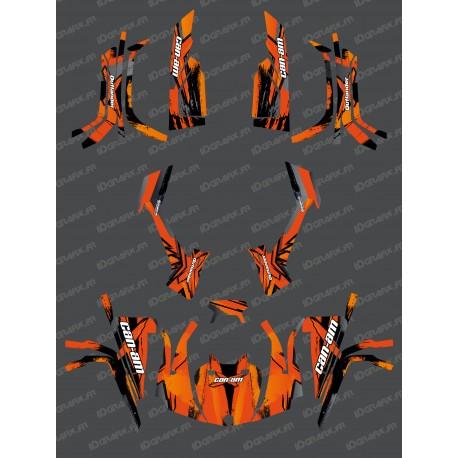 Kit décoration Full Whip (Orange) - IDgrafix - Can Am série L Outlander