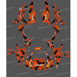 Kit décoration Full Brush (Orange) - IDgrafix - Can Am série L Outlander