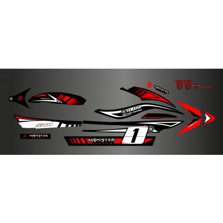 Kit deco 100% perso Monster Rouge - Yamaha FX (1er génération)
