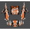 Kit decorazione Goccia Edizione (Arancione)- IDgrafix - Polaris RZR 1000 Turbo