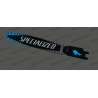 Etiqueta engomada de la protección de la Batería - GP Edition (azul) - Specialized Turbo Levo/Kenevo