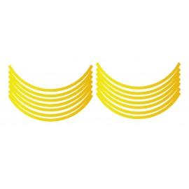 Sticker Liserets de Roues MT07/MT09 (Jaune)