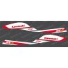 Kit de decoración de Réplica de Fábrica (Rojo/Blanco) para la Kawasaki 800 SXR