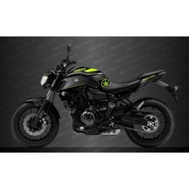 Kit décoration Racing Gris/jaune Fluo - IDgrafix - Yamaha MT-07 (après 2018)
