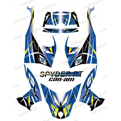 photo du kit décoration - Kit décoration Geometric Bleu - IDgrafix - Can Am Spyder RT