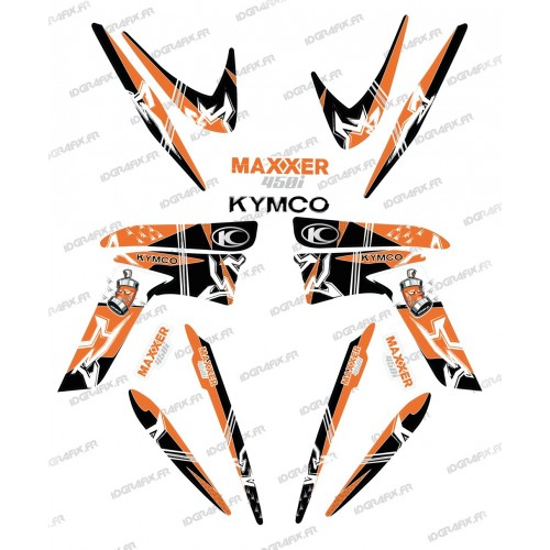 photo du kit décoration - Kit décoration Street Orange - IDgrafix - Kymco 450 Maxxer