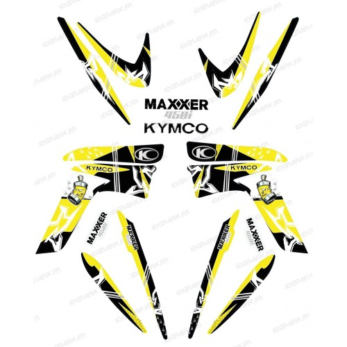 photo du kit décoration - Kit décoration Street Jaune - IDgrafix - Kymco 450 Maxxer
