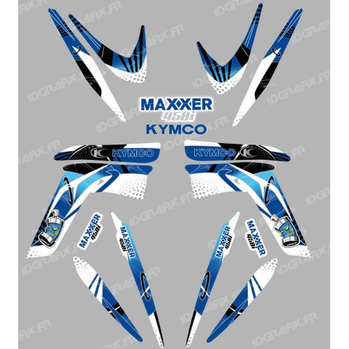 photo du kit décoration - Kit décoration Space Bleu - IDgrafix - Kymco 450 Maxxer