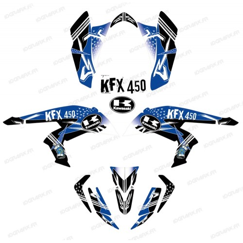 photo du kit décoration - Kit décoration Street Bleu - IDgrafix - Kawasaki KFX 450R