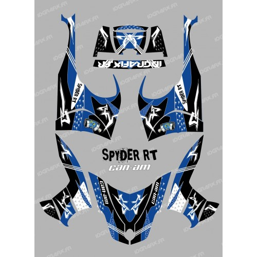photo du kit décoration - Kit décoration Street Bleu - IDgrafix - Can Am Spyder RT