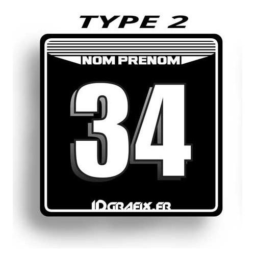 photo du kit décoration - Plaque Numéro 100 % Perso - Type 2 (Noir)