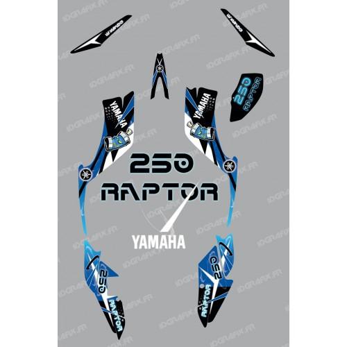 photo du kit décoration - Kit décoration Space Bleu - IDgrafix - Yamaha 250 Raptor