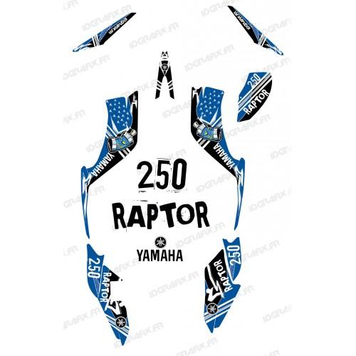 photo du kit décoration - Kit décoration Street Bleu - IDgrafix - Yamaha 250 Raptor