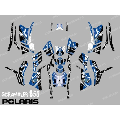 photo du kit décoration - Kit décoration Street Bleu (Full) - IDgrafix - Polaris 850/1000 Scrambler