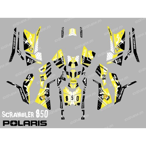 photo du kit décoration - Kit décoration Street Jaune (Full) - IDgrafix - Polaris 850 Scrambler