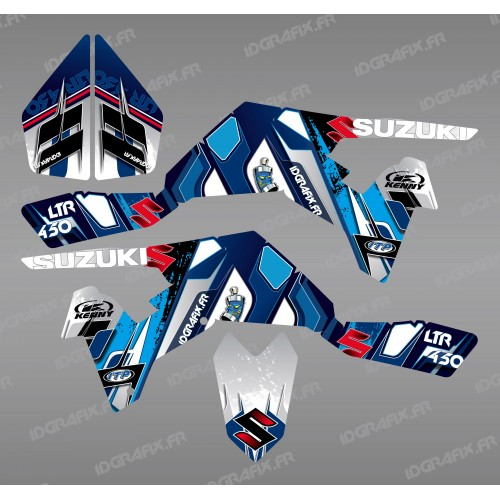 photo du kit décoration - Kit décoration Pics Bleu - IDgrafix - Suzuki LTR 450