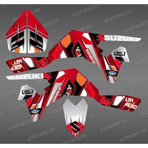photo du kit décoration - Kit décoration Pics Rouge - IDgrafix - Suzuki LTR 450