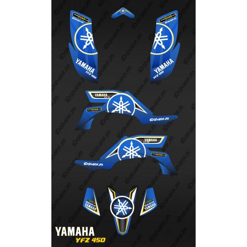 photo du kit décoration - Kit décoration Karbonik Bleu - IDgrafix - Yamaha YFZ 450