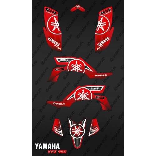 photo du kit décoration - Kit décoration Karbonik Rouge - IDgrafix - Yamaha YFZ 450
