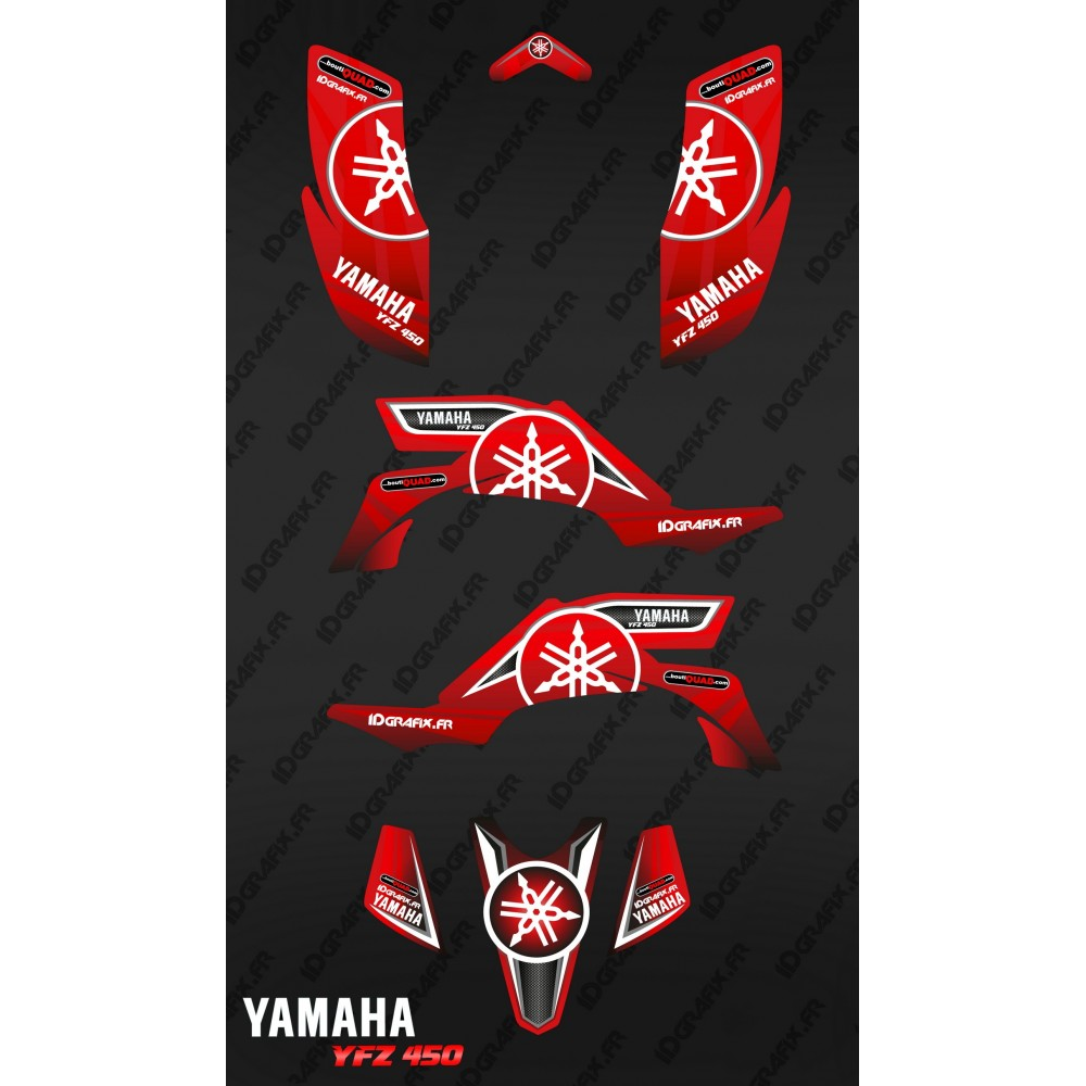 Kit d coration karbonik rouge idgrafix yamaha yfz 450 for Decoration yamaha
