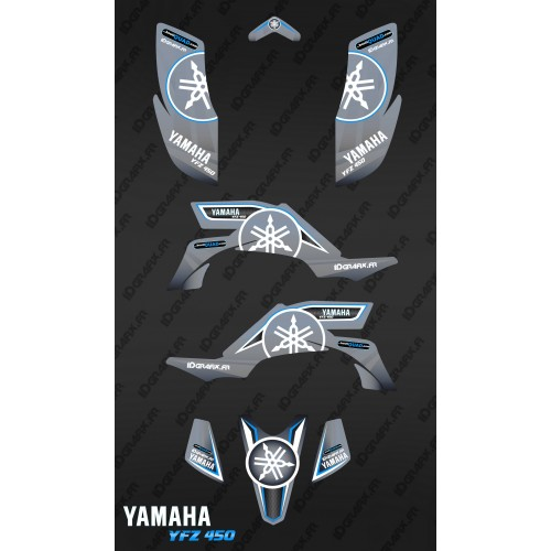 photo du kit décoration - Kit décoration Karbonik Gris - IDgrafix - Yamaha YFZ 450