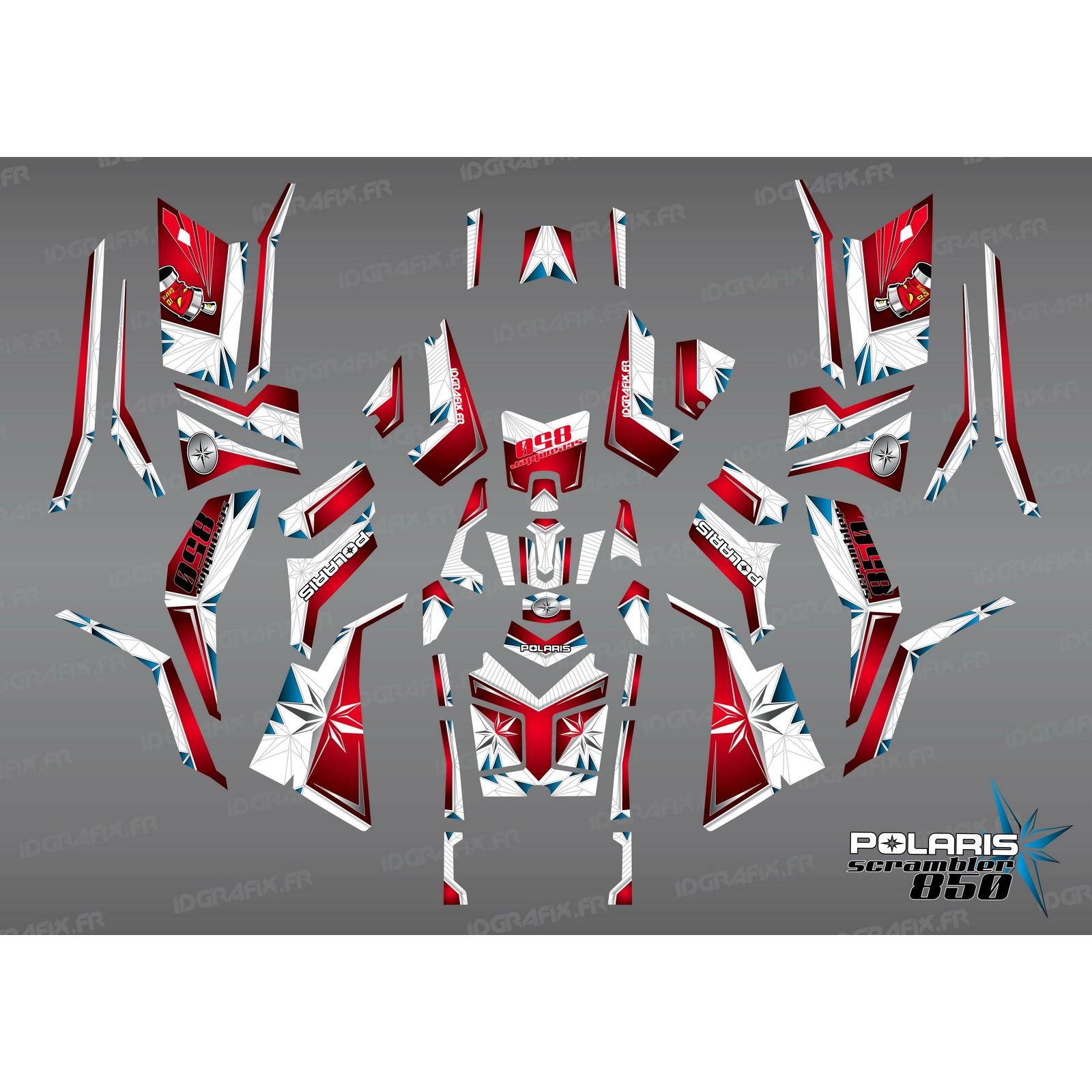 photo du kit décoration , Kit décoration SpiderStar Rouge/Blanc (Full) , IDgrafix
