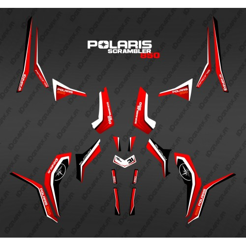 photo du kit décoration - Kit décoration Pure Rouge (Light) - IDgrafix - Polaris 850 Scrambler