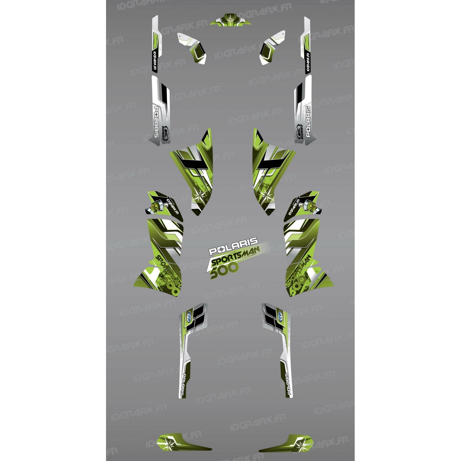 photo du kit décoration , Kit décoration Green Pics Series , IDgrafix , Polaris 500 Sportsman