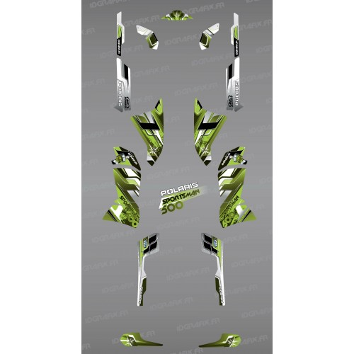 photo du kit décoration - Kit décoration Green Pics Series - IDgrafix - Polaris 500 Sportsman