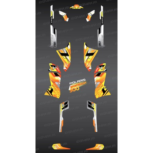 photo du kit décoration - Kit décoration Yellow Pics Series - IDgrafix - Polaris 500 Sportsman