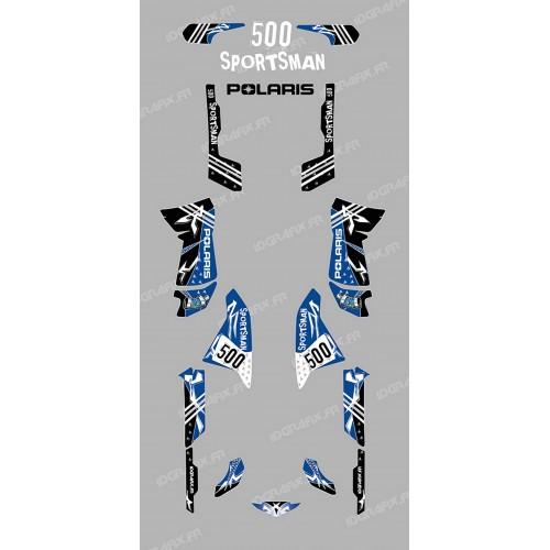 photo du kit décoration - Kit décoration Street Bleu - IDgrafix - Polaris 500 Sportsman