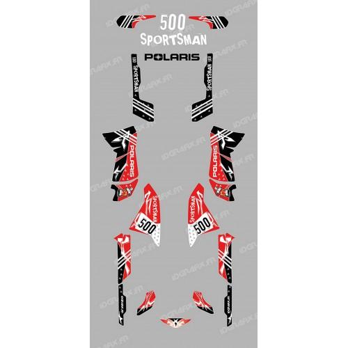 photo du kit décoration - Kit décoration Street Rouge - IDgrafix - Polaris 500 Sportsman
