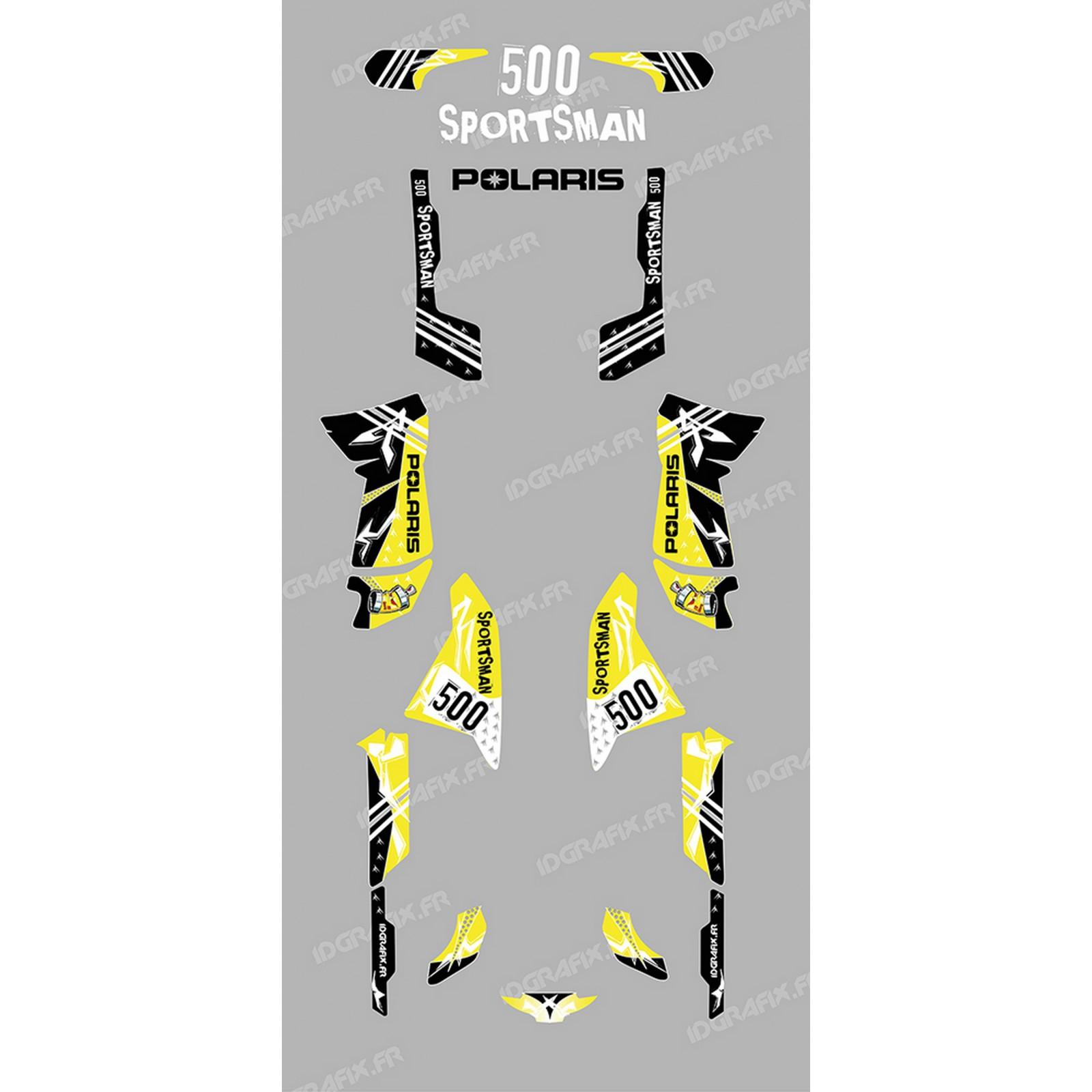 photo du kit décoration , Kit décoration Street Jaune , IDgrafix , Polaris 500 Sportsman