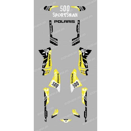 photo du kit décoration - Kit décoration Street Jaune - IDgrafix - Polaris 500 Sportsman