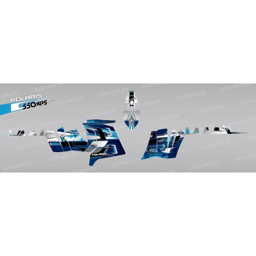 photo du kit décoration - Kit décoration Pics (Bleu) - IDgrafix - Polaris 550 XPS