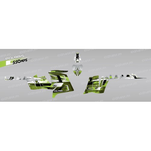 photo du kit décoration - Kit décoration Pics (Vert) - IDgrafix - Polaris 550 XPS