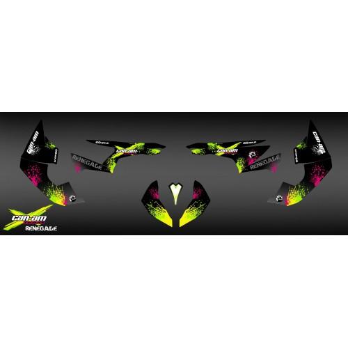 photo du kit décoration - Kit décoration Yellow Splash Séries - IDgrafix - Can Am Renegade