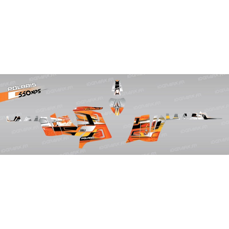 photo du kit décoration - Kit décoration Pics (Orange) - IDgrafix - Polaris 550 XPS
