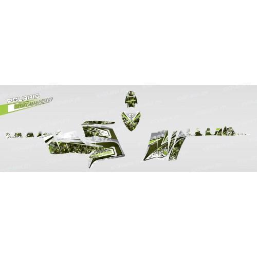 photo du kit décoration - Kit décoration Camo (Vert) - IDgrafix - Polaris 850 XPS