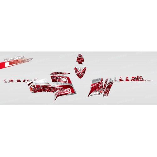 photo du kit décoration - Kit décoration Camo (Rouge) - IDgrafix - Polaris 850 XPS