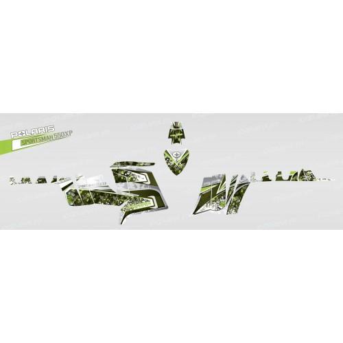 foto del kit, Kit de decoración para la decoración de Camuflaje (Verde) - IDgrafix - Polaris 550 XPS