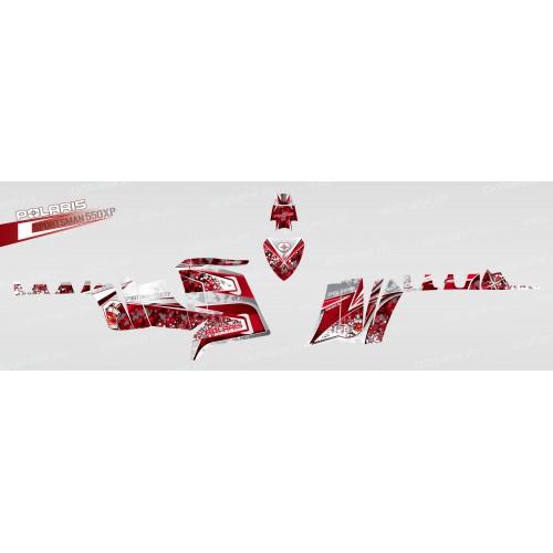 foto del kit, Kit de decoración para la decoración de Camuflaje (Rojo) - IDgrafix - Polaris 550 XPS