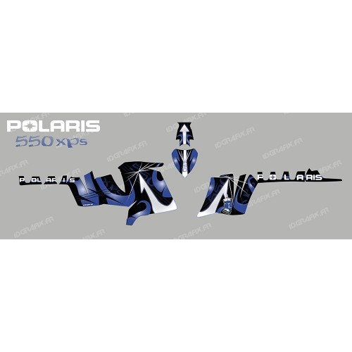 photo du kit décoration - Kit décoration Poseidon (Bleu) - IDgrafix - Polaris 550 XPS