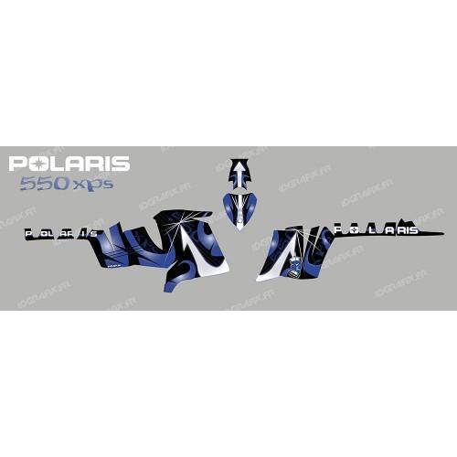 foto del kit, Kit de decoración para la decoración de Poseidón (Azul) - IDgrafix - Polaris 550 XPS