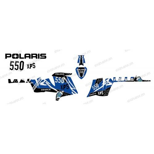foto del kit, Kit de decoración de la decoración de la Calle (Azul) - IDgrafix - Polaris 550 XPS