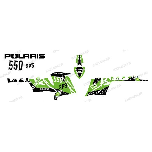 photo du kit décoration - Kit décoration Street (Vert) - IDgrafix - Polaris 550 XPS