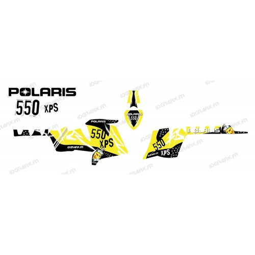 photo du kit décoration - Kit décoration Street (Jaune) - IDgrafix - Polaris 550 XPS
