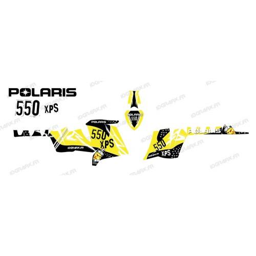 foto del kit, Kit de decoración de la decoración de la Calle (Amarillo) - IDgrafix - Polaris 550 XPS