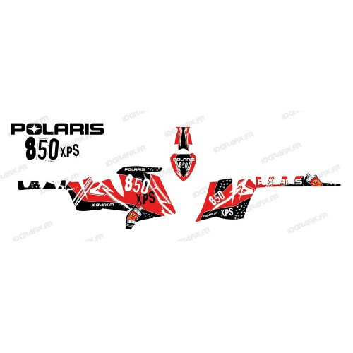 photo du kit décoration - Kit décoration Street (Rouge) - IDgrafix - Polaris 550 XPS